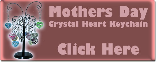 Mothers Day - Crystal Heart Keychain